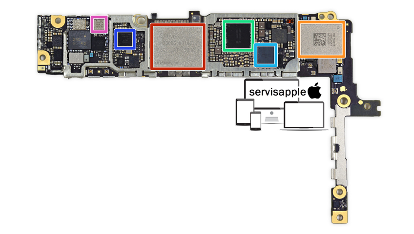 Apple iPhone Garantili Teknik Servis Onarım Tamir Anakart Güç Entegresi Değişimi