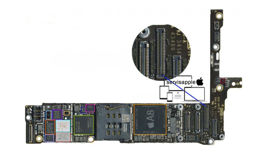 Apple iPhone Garantili Teknik Servis Onarım Tamir Dokunmatik soketi Değişimi